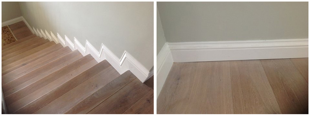 Staircase mouldings and hand rails